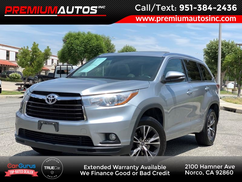 Sold 2016 Toyota Highlander Xle In Norco