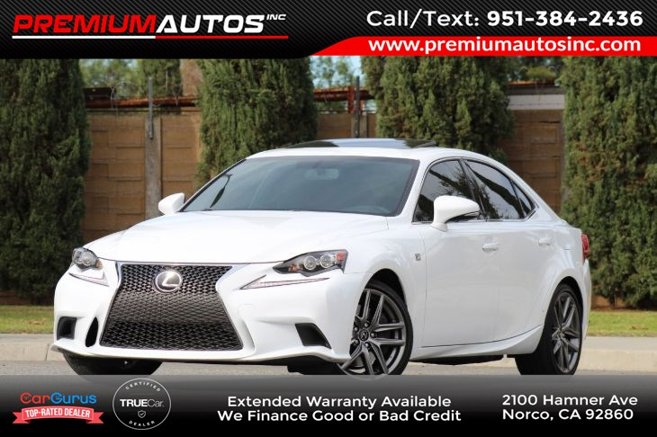 2016 Lexus IS 200t F SPORT PKG - RED INTERIOR