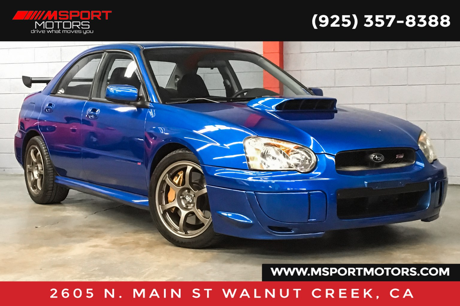 Walnut Creek Subaru >> Used 2004 Subaru Impreza Sedan Wrx Sti In Walnut Creek