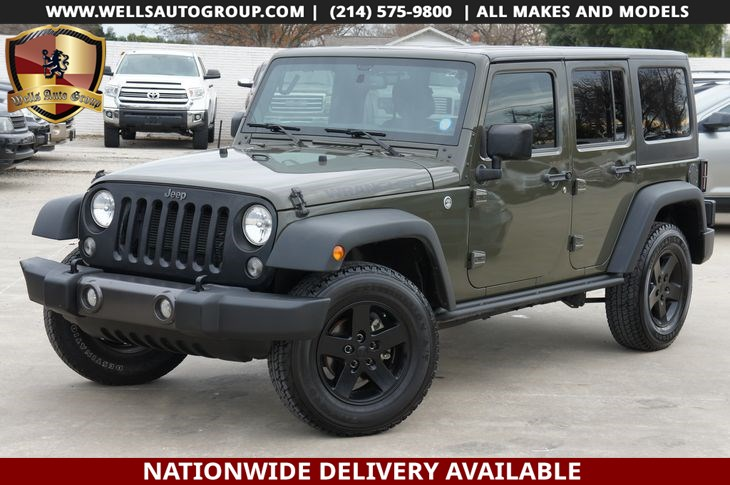 2016 Jeep Wrangler Unlimited Sport | Hardtop | Black wheels | Automatic