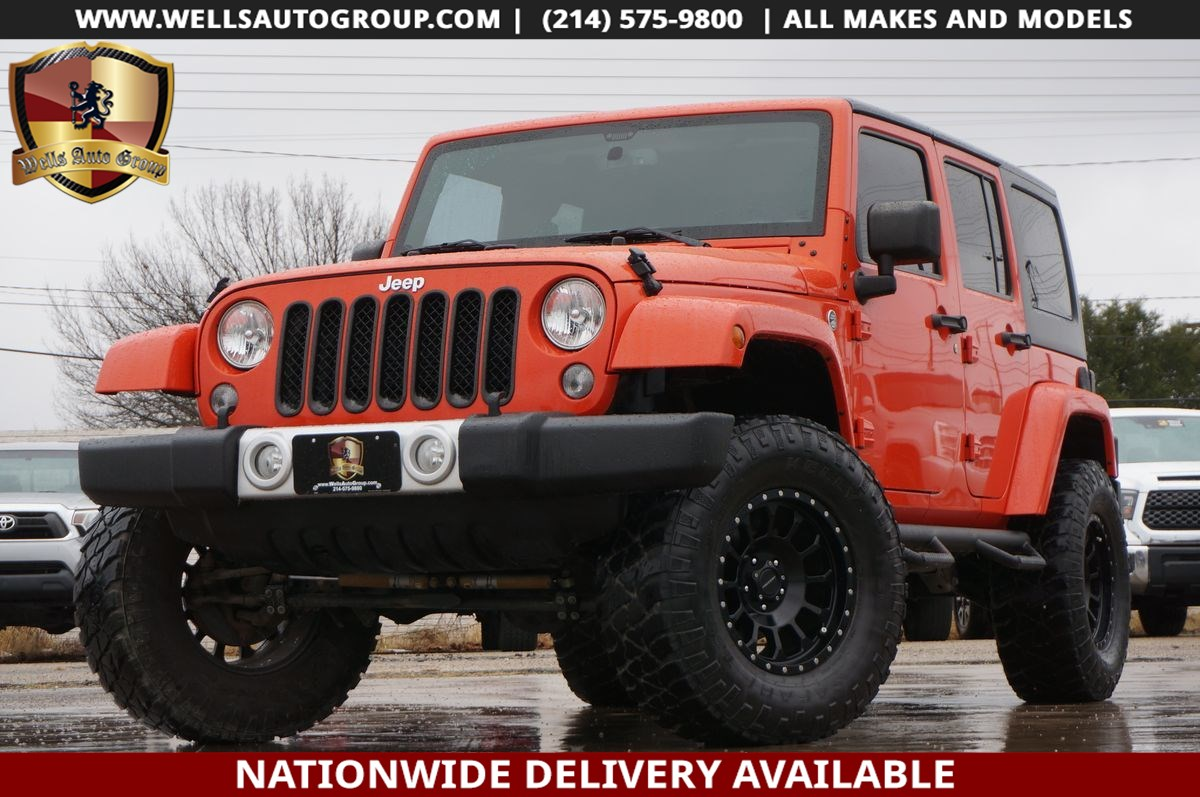 2015 Jeep Wrangler Unlimited SAHARA 4X4 | LIFT | FREEDOM TOP | AUTO | $5K OPTS