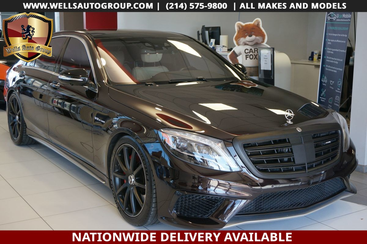 2014 Mercedes-Benz S 63 AMG REAR DVD|RECLINE|PRESIDINTAL PKG|MASSAGE|PANO|LOAD