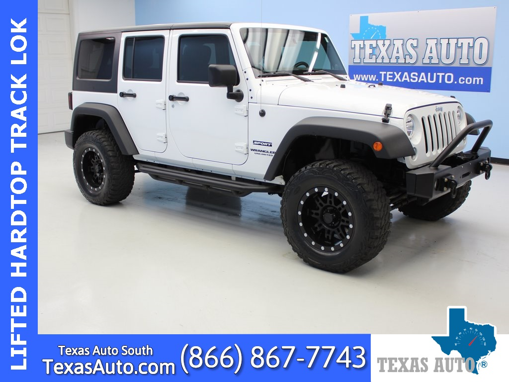 2014 Jeep Wrangler Unlimited Sport LIFTED-HARD TOP-CONNECTIVITY PKG