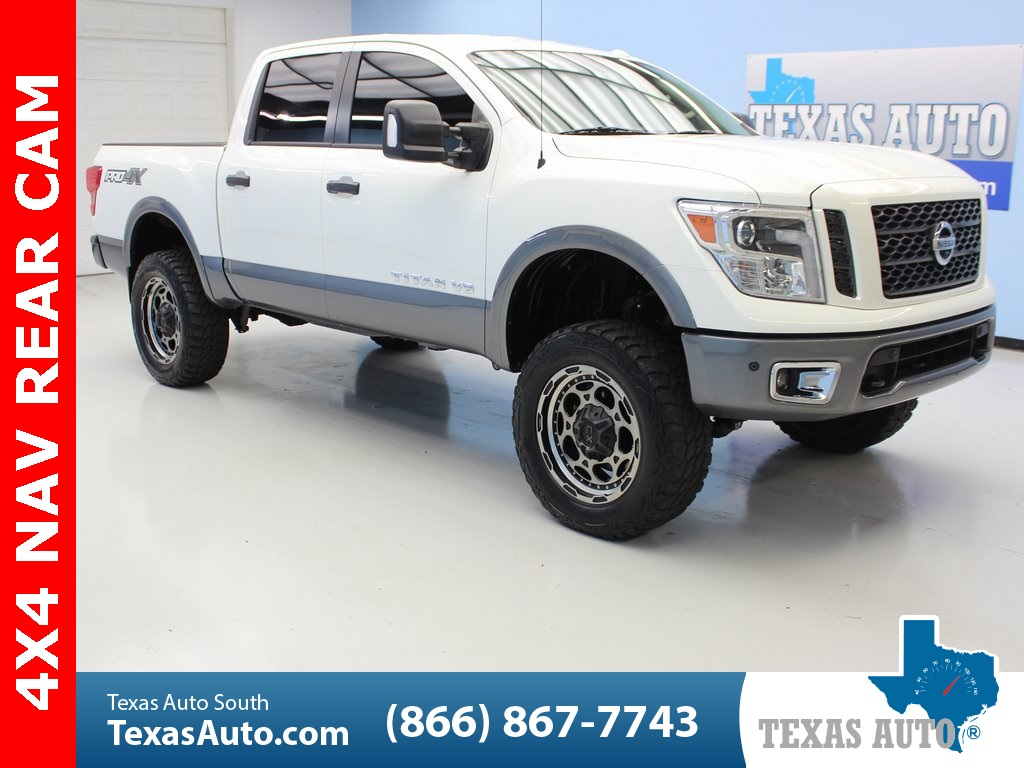 Lifted Nissan Titan >> 2018 Nissan Titan Pro Lifted Navi Rear Cam Texas Auto North