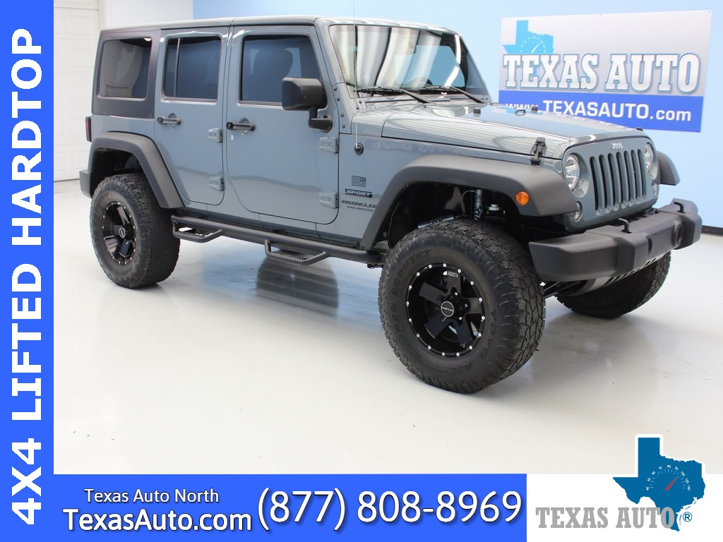 2015 Jeep Wrangler Unlimited Sport LIFTED-HARD TOP-CONNECTIVITY