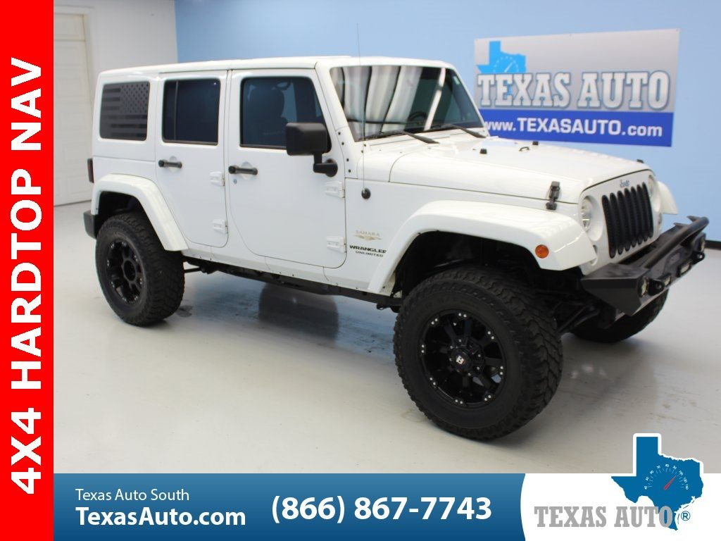 Sold 2014 Jeep Wrangler Unlimited Sahara Lifted Navi Hard Top Tow Pkg Alpi In Webster