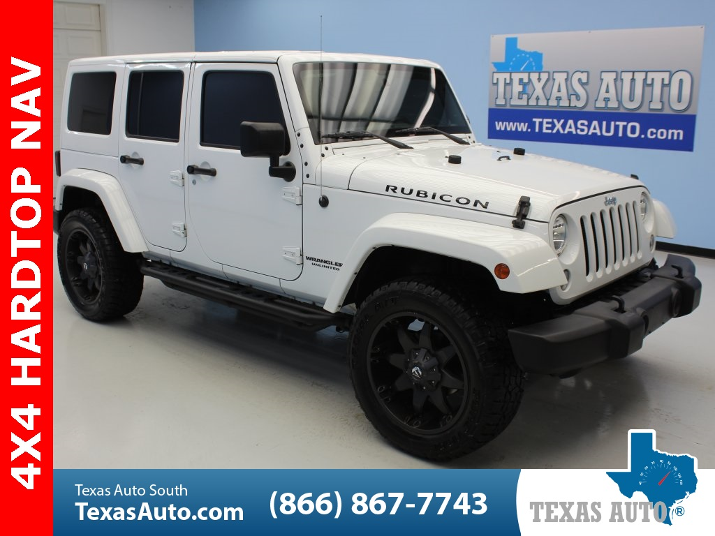 Sold 2016 Jeep Wrangler Unlimited Rubicon Lifted Hard Top Navi Leather In Webster