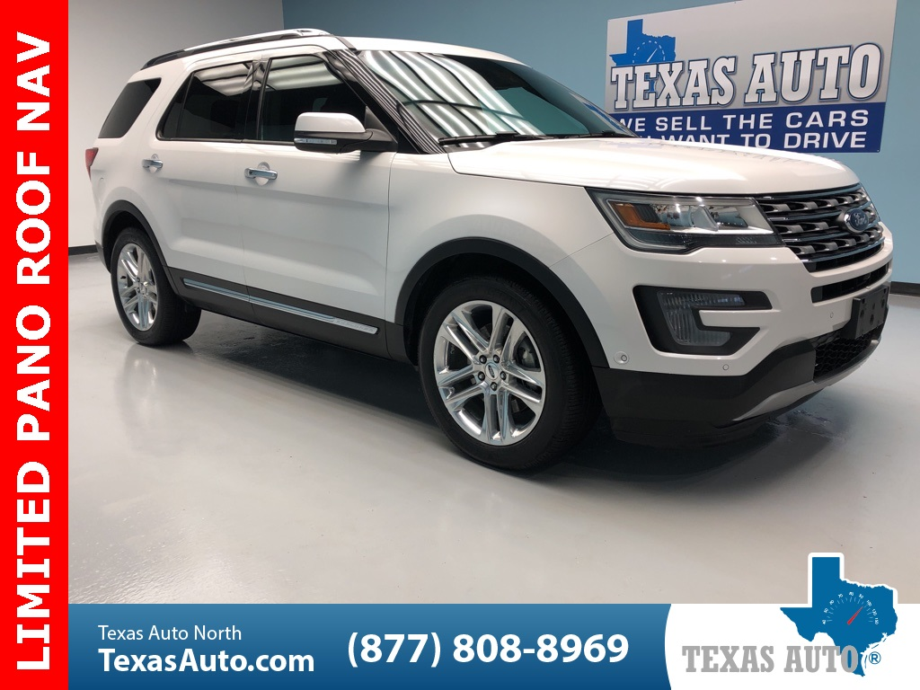 2017 Ford Explorer Limited PANO-NAVI-3RD ROW- HEAT SEATS