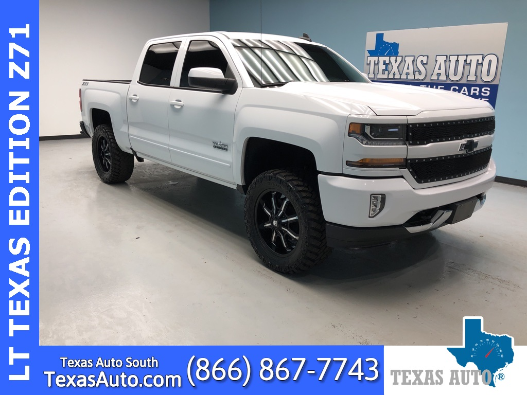 2018 Chevrolet Silverado 1500 LT TEXAS EDITION-LT2-LIFTED-NAVI-REAR CAM-LEATHER