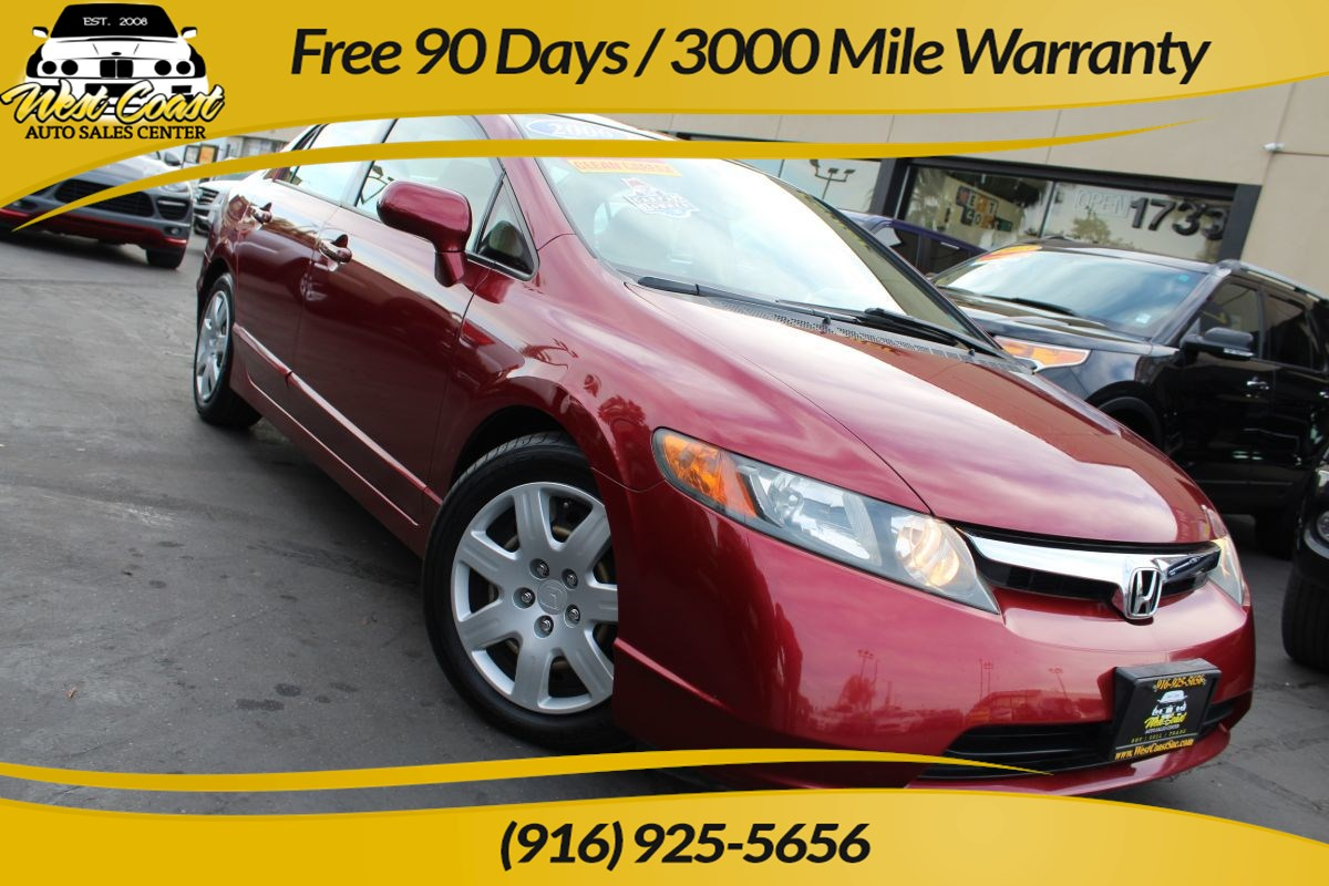 2006 Honda Civic Sedan LX | *One Owner*, Gas Saver