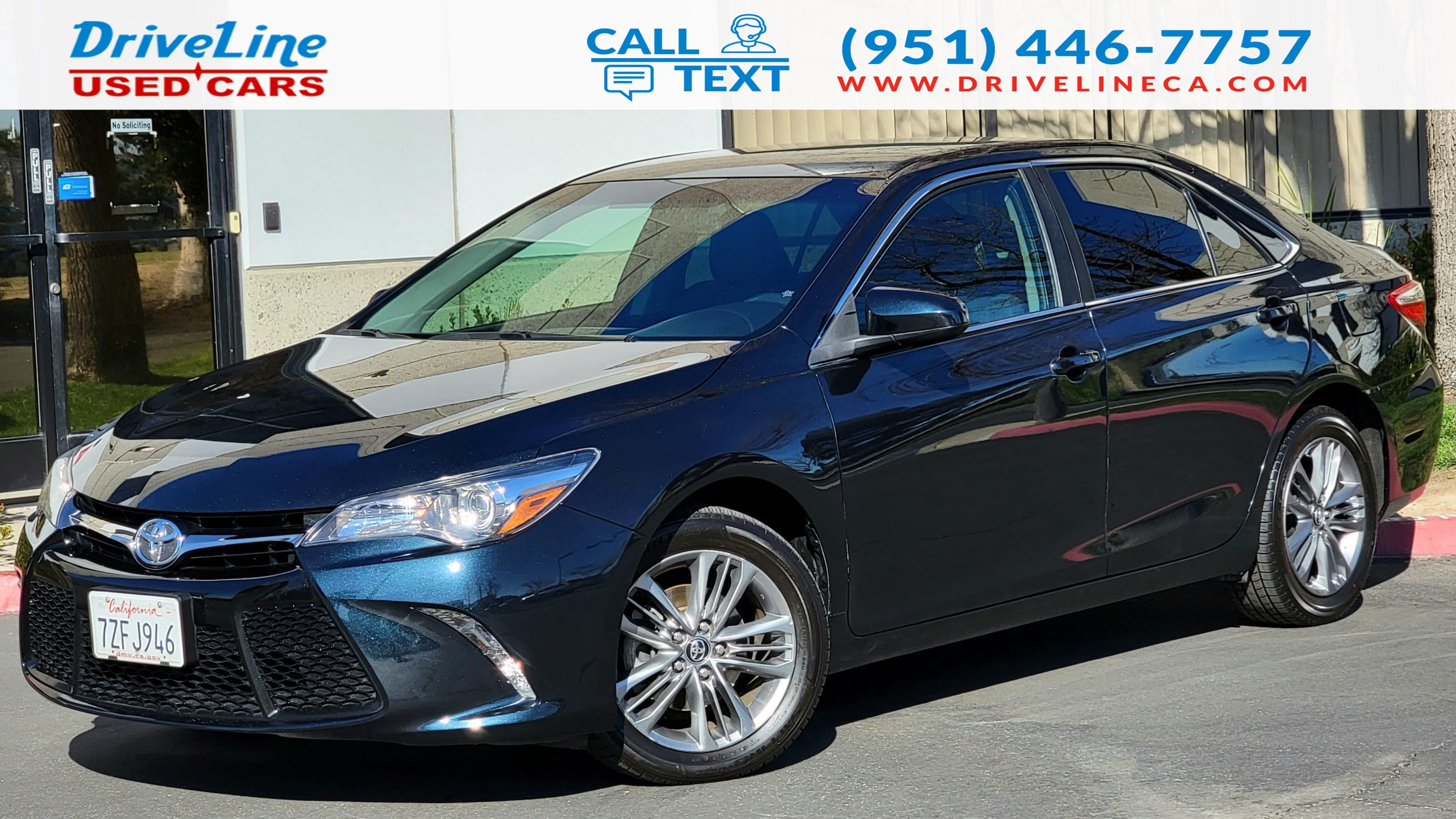 2017 Toyota Camry SE - Rear View Camera - Bluetooth - $23,840 MSRP