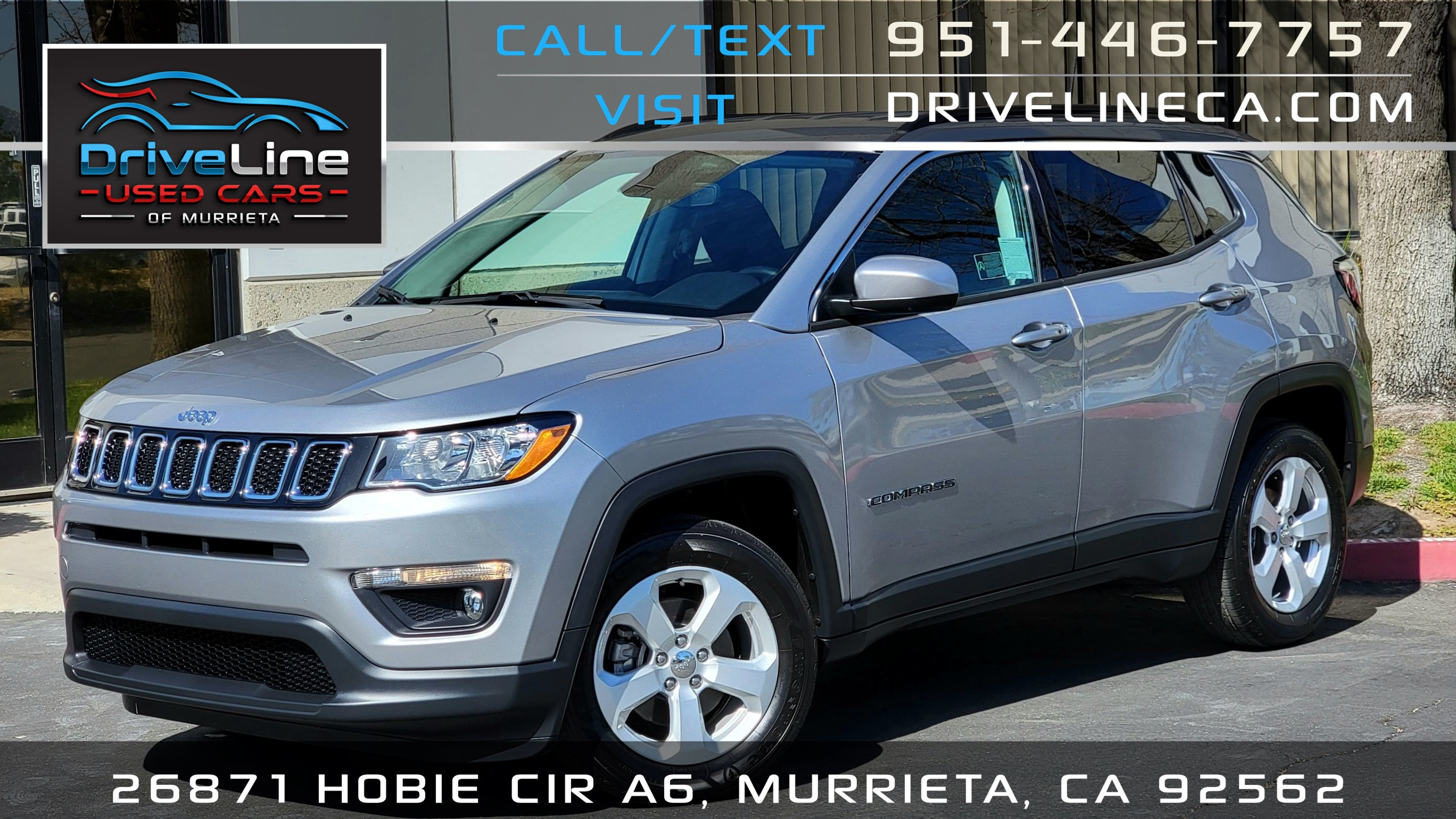 2019 Jeep Compass Latitude / 300 Miles Only /