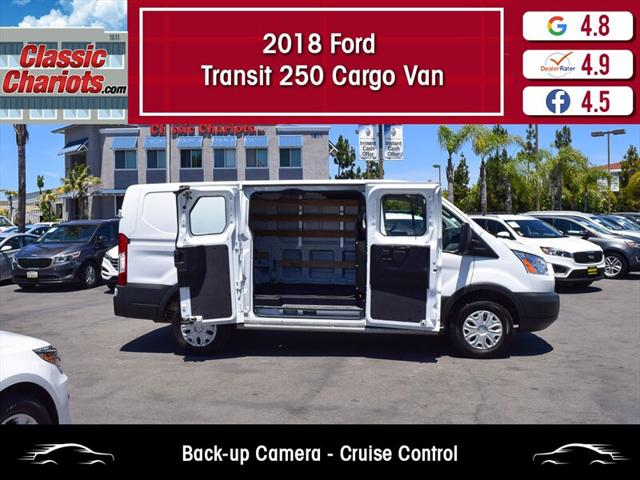 2018 Ford Transit Van T-250 130' Low Rf 9000 GVWR Swing-Out RH Dr - Classic  Chariots