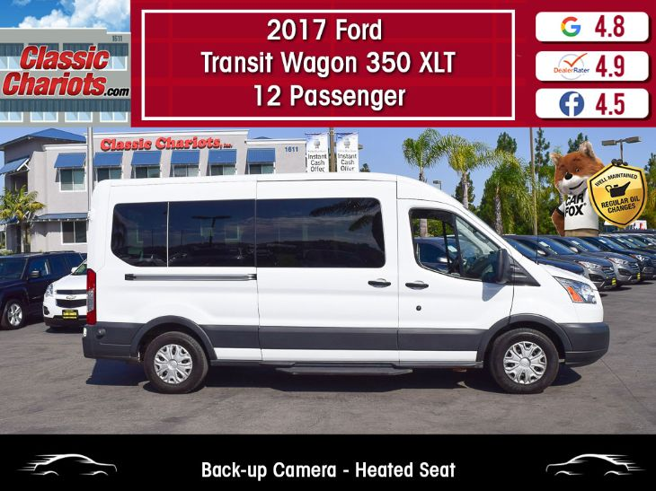 2017 Ford Transit Wagon 350 XLT 12 Passenger Medium Roof