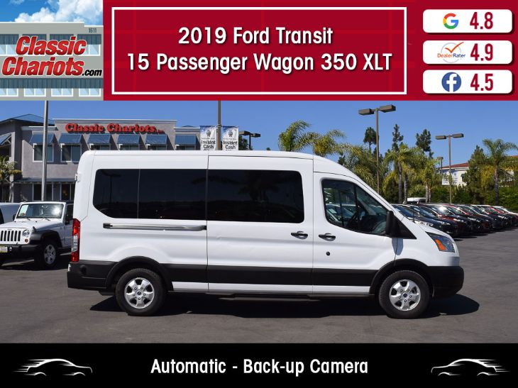 Ford Transit Wagon >> 2019 Ford Transit Wagon 350 Xlt 15 Passenger Medium Roof Classic Chariots