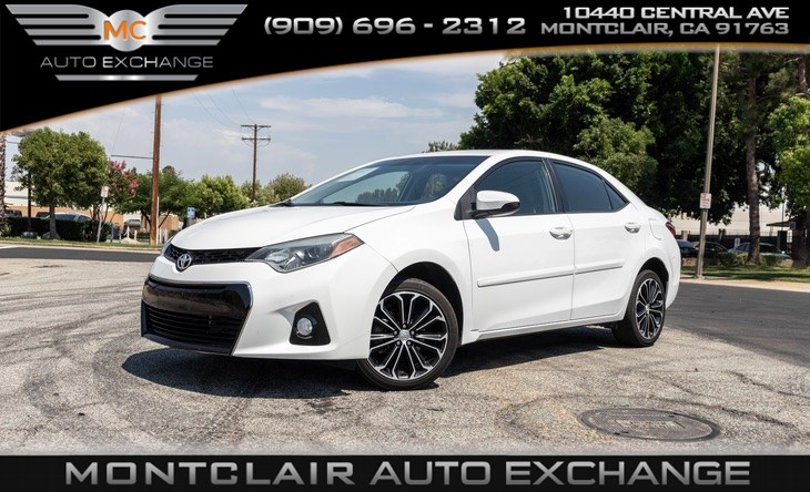 2016 Toyota Corolla S (GAS SAVER, COLD AC, BLUETOOTH, BACK UP CAM)