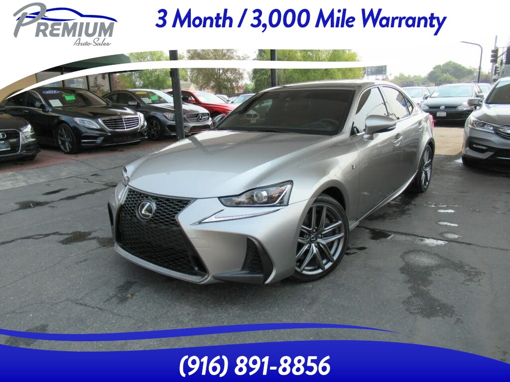 2017 Lexus IS IS Turbo-F SPORT-RED LEATHER-EXTRA CLEAN